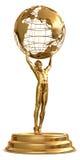 Trofeo del globo stock de ilustración