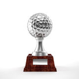 Trofeo del golf Fotografía de archivo libre de regalías