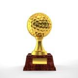 Trofeo del golf Imágenes de archivo libres de regalías