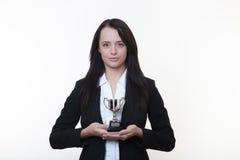 Trofeo del negocio fotografía de archivo