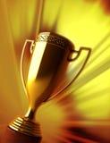 Trofeo del oro Imágenes de archivo libres de regalías