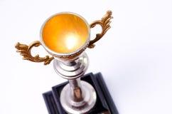 Trofeo del oro fotografía de archivo