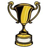 Trofeo del oro Imagen de archivo libre de regalías