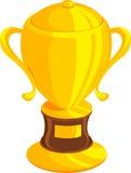 Trofeo del oro de la ilustración Imagen de archivo
