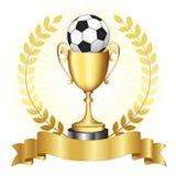 Trofeo del oro del campeonato del fútbol Imagenes de archivo