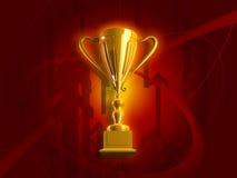 Trofeo del oro que gana Fotos de archivo
