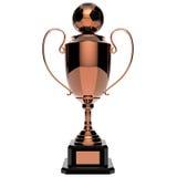 Trofeo del premio del rame di calcio. Fotografie Stock