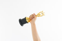 Trofeo del premio para el logro del ganador fotos de archivo libres de regalías
