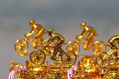 Trofeo del torneo de la bici de montaña foto de archivo libre de regalías