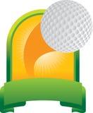 Trofeo della sfera di golf Fotografia Stock