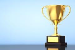Trofeo della tazza dell'oro del campione Fotografia Stock Libera da Diritti