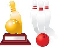 Trofeo di bowling Immagini Stock