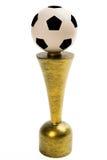 Trofeo di calcio isolato su fondo bianco immagine stock libera da diritti
