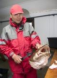 Trofeo di pesca fotografie stock