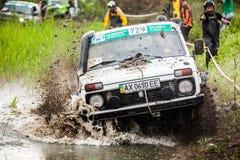 Trofeo 2016 di Zaporizhia Fase II del campionato fuori strada dell'ucranino del trofeo Immagini Stock