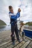 Trofeo doble de los pescados fotografía de archivo libre de regalías