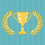 Trofeo dorato Fotografie Stock