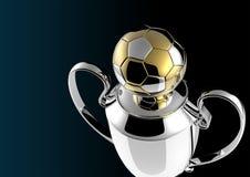Trofeo dorato del premio di calcio. Immagine Stock Libera da Diritti