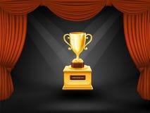 Trofeo en escena del teatro Vector Imagen de archivo