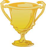 Trofeo en oro Fotos de archivo libres de regalías