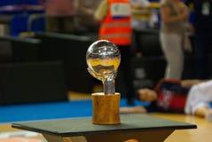 Trofeo español del baloncesto en Palau Blaugran Fotografía de archivo