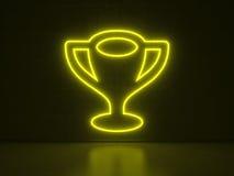 Trofeo - insegne al neon di serie Fotografia Stock Libera da Diritti