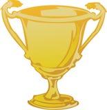 Trofeo in oro Fotografie Stock Libere da Diritti