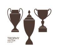 Trofeo taza Sistema del icono Imágenes de archivo libres de regalías