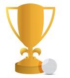 Trofeo y diseño de la ilustración de la pelota de golf libre illustration