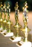 Trofeos de los ganadores Foto de archivo