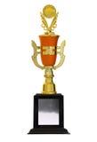 Trofeos de oro Imagenes de archivo