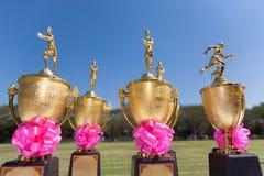 Trofeos del atletismo Foto de archivo libre de regalías