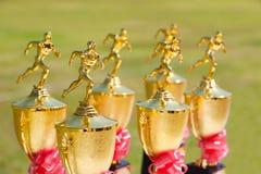 Trofeos del atletismo Fotos de archivo libres de regalías