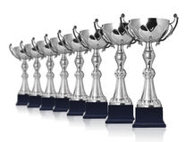 Trofeos del campeón fotografía de archivo
