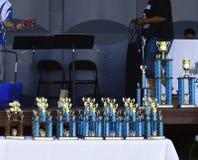 Trofeos del Car Show Fotografía de archivo libre de regalías