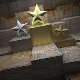 Trofeos históricos de la estrella Imagen de archivo libre de regalías