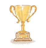 Trofeum filiżanki kolorowy nakreślenie Zdjęcie Royalty Free