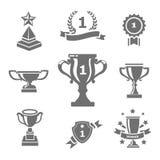 Trofeum i nagród ikony Obrazy Royalty Free