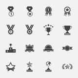 Trofeum i nagród ikony ustawiać ilustracja wektor