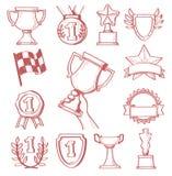 Trofeum i nagrody ilustracji