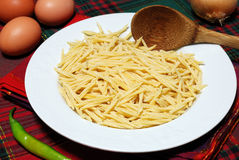 Trofie - italienische Teigwaren Stockfotos