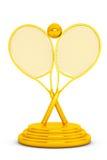 Troféu dourado do tênis Imagens de Stock Royalty Free