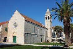 Trogir的St.西班牙托钵僧修道院 库存照片
