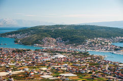 Trogir - исторический город и гавань Стоковое Изображение RF