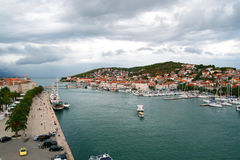 Trogir. Panoramic view of trogir, croatia Stock Image