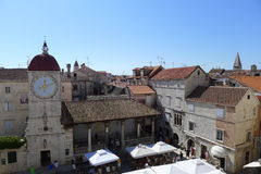 Trogir. The clock tower in the center of Trogir, Croatia, Europe Stock Photography
