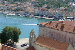 Trogir. View of Trogir from the bell tower of the Cathedral of St. Lovro, Croatia, Europe Royalty Free Stock Photography