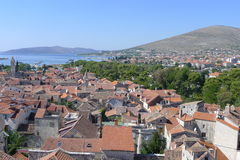 Trogir. View of Trogir from the bell tower of the Cathedral of St. Lovro, Croatia, Europe Stock Photo