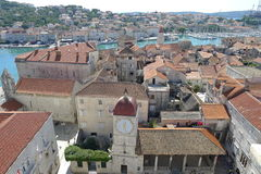 Trogir. View from clock tower in the center of Trogir, Croatia, Europe Stock Photos