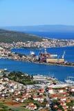 trogir морского порта стоковые изображения rf
